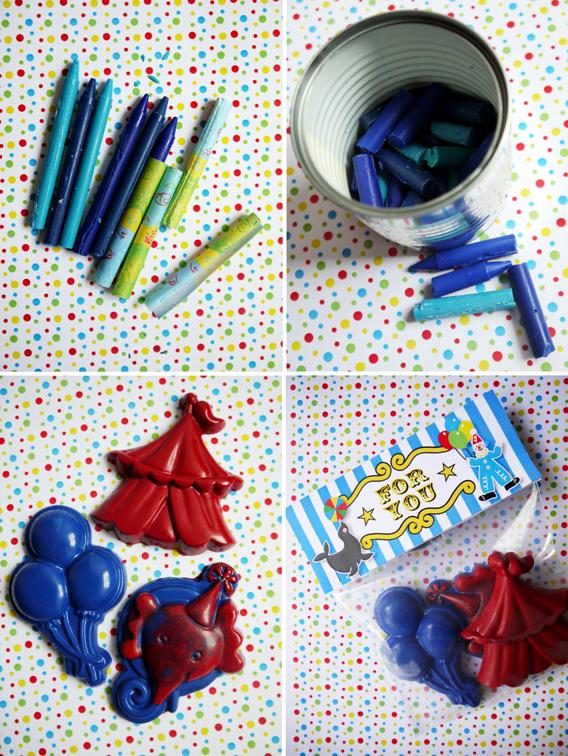 Diy circus crayons party favor by birds party 2