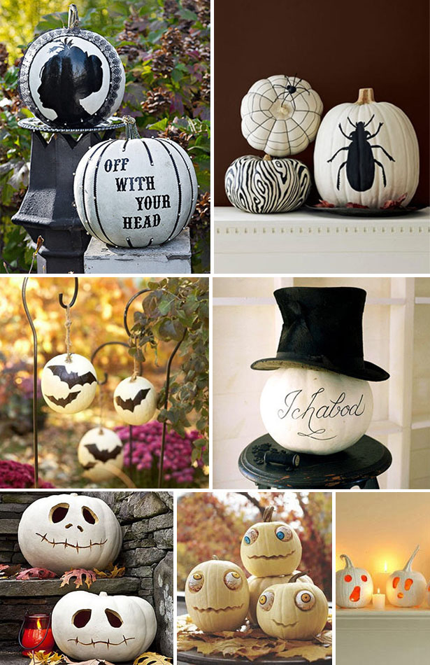 Decorating With White Pumpkins