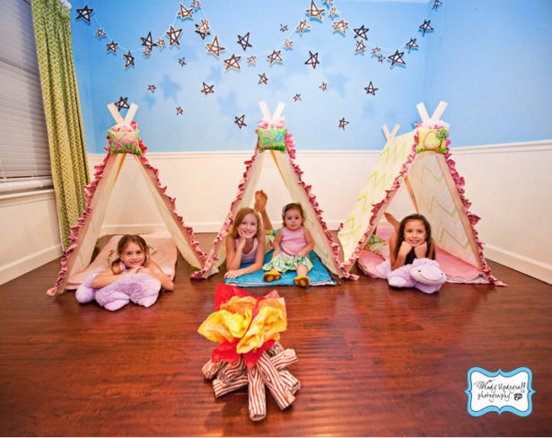 Real camp birthday party tents