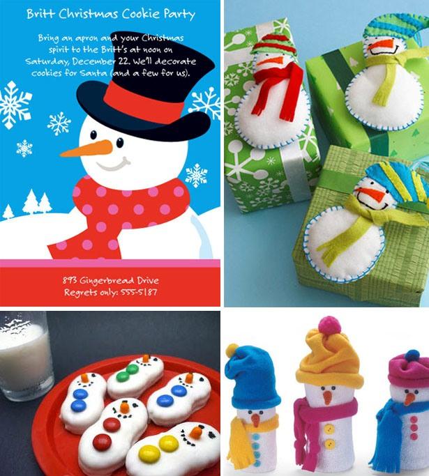 Snowman christmas party ideas