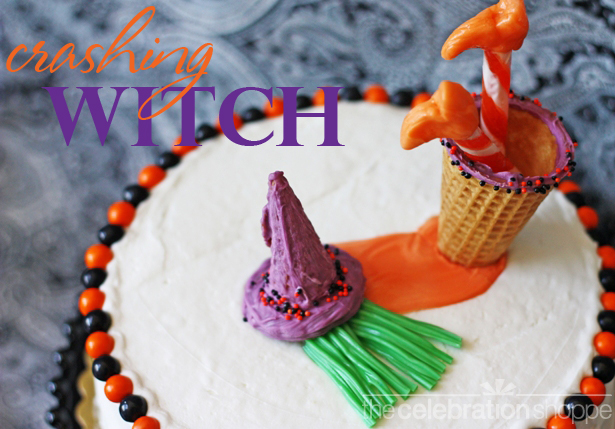 The celebration shoppe crashing witch halloween cake wl 3