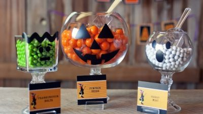 The celebration shoppe diy halloween pedestal jars