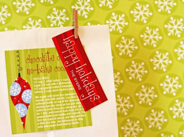 The celebration shoppe free christmas tags recipe card