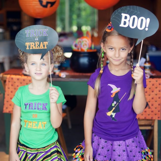 Trick-or-Treat Photo Props   Kim Byers