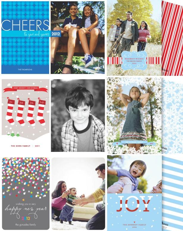 The celebration shoppe holilday photo cards 2011 2