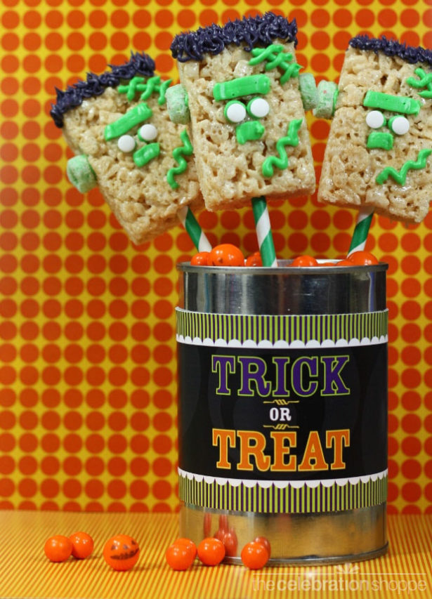Frankenstein Rice Krispies Treats   Kim Byers