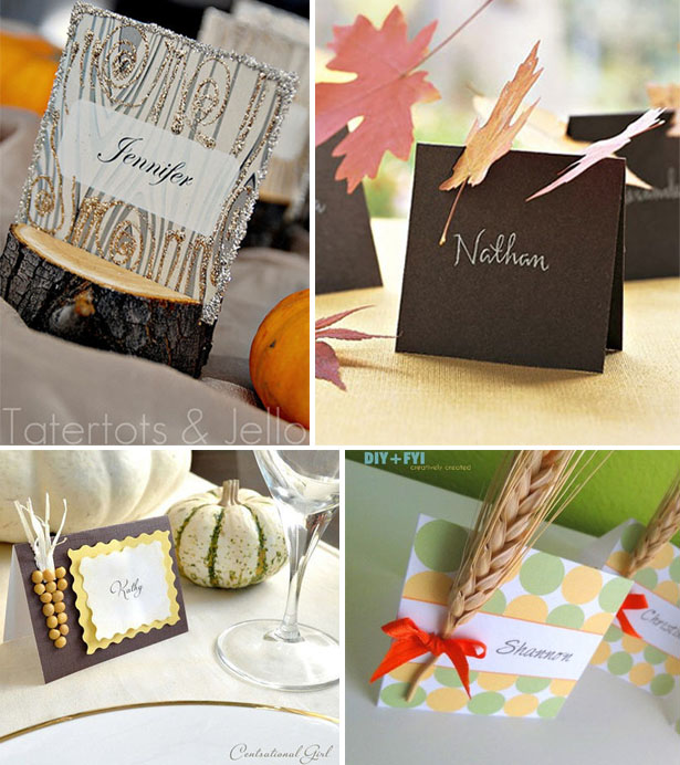 Diy thanksgiving placecard ideas