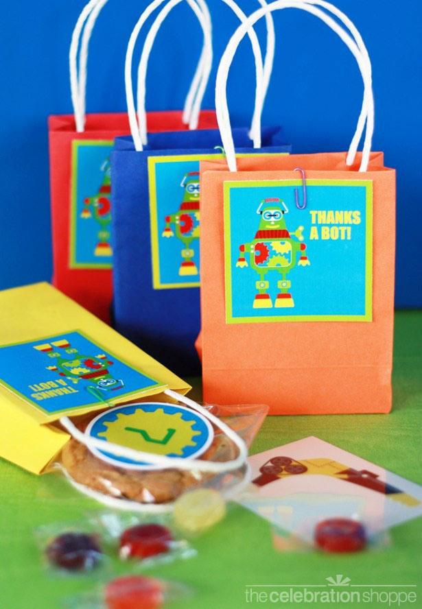 The celebration shoppe robot party favor bags 1131 wl