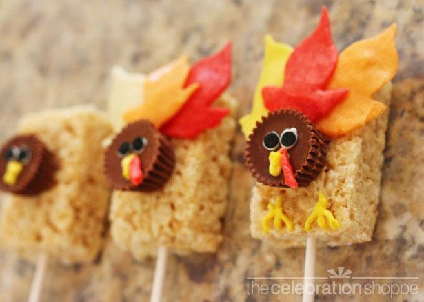The celebration shoppe thanksgiving rice krispie turkey treats step 3 wl