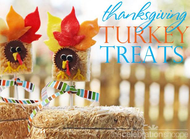 The celebration shoppe thanksgiving rice krispie turkey treats wl
