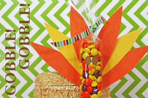 The celebration shoppe thanksgiving turkey cello bag candy favor craft wt