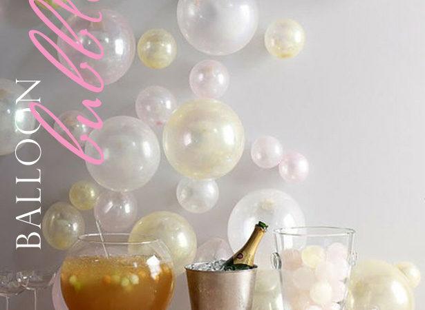 Balloon bubbles drink service backdrop