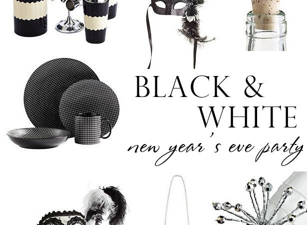 Black white new years eve party inspiration