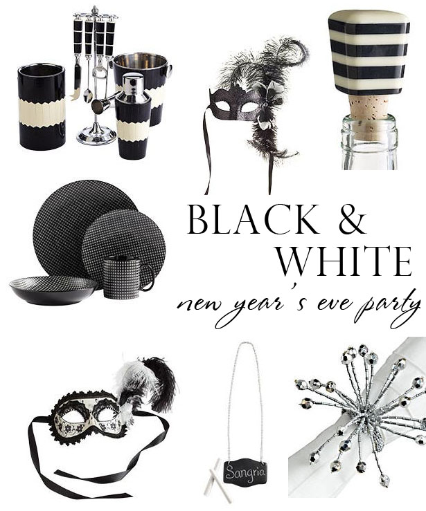 Black White New Years The Celebration Shoppe