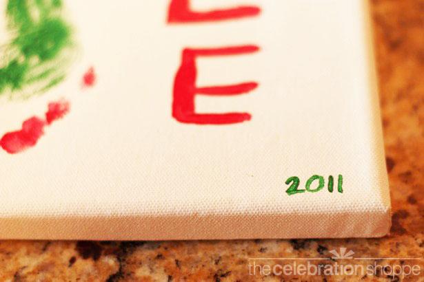 Christmas tree footprint art date 0491 wl