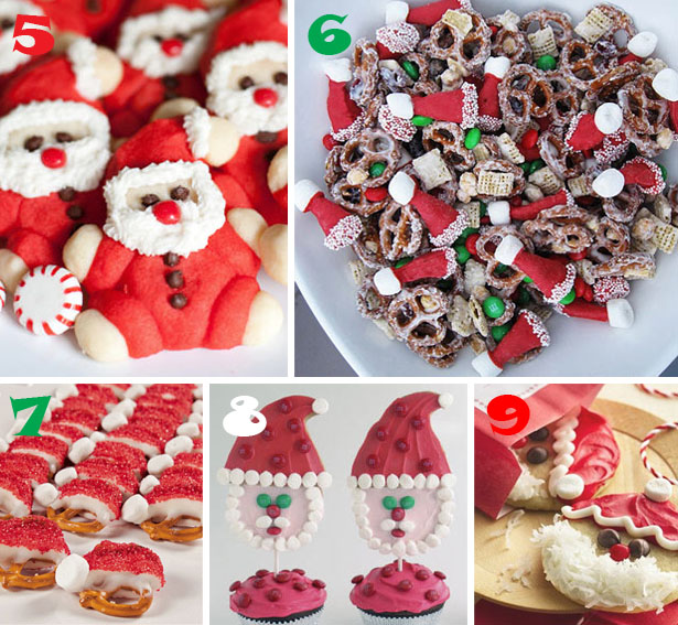 Easy santa cookies and treat ideas wt