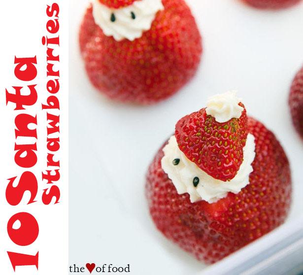 Easy santa strawberry treats