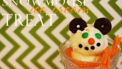 The celebration shoppe christmas mouse ice cream wt