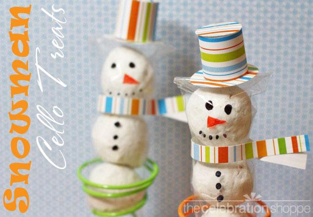 The celebration shoppe snowman cello treat 0333 wl