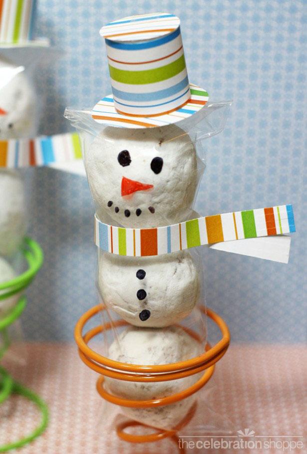 The celebration shoppe snowman cello treat 0342 wl