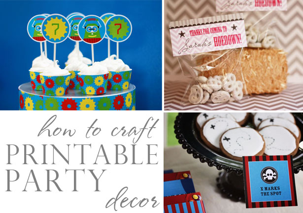 How to craft printable party decor