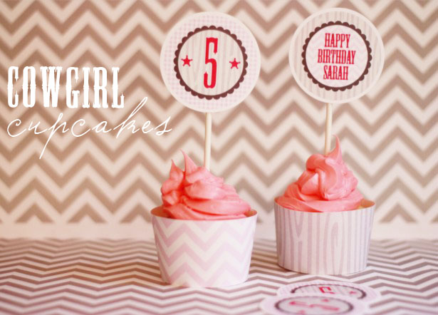 The celebration shoppe cowgirl cupcakes 1636 wt