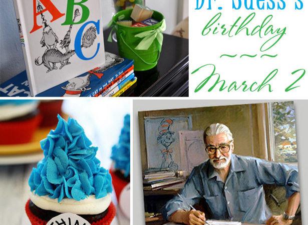 Celebrate dr suess birthda