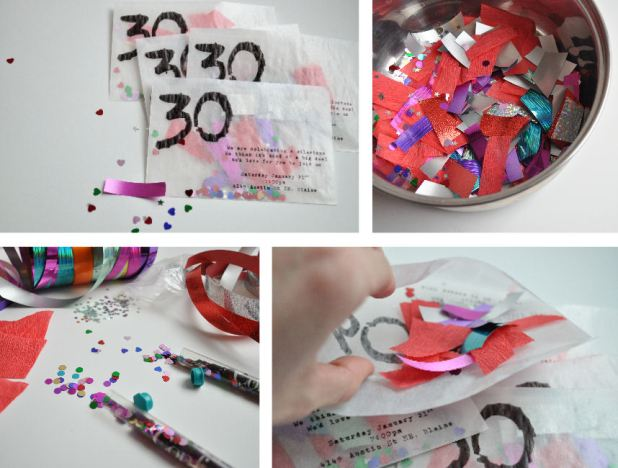 Diy 30th birthday invitations