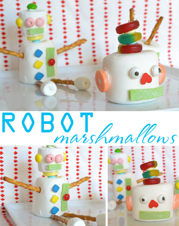 Diy robot marshmallow treats
