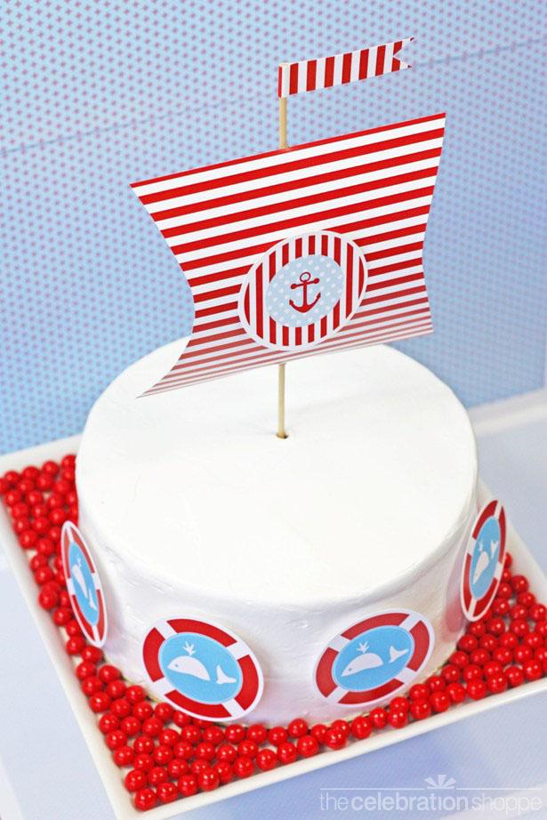 DIY nautical party cake The Celebration Shoppe