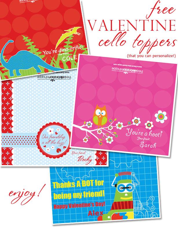 The celebration shoppe free valentine cello toppers blog