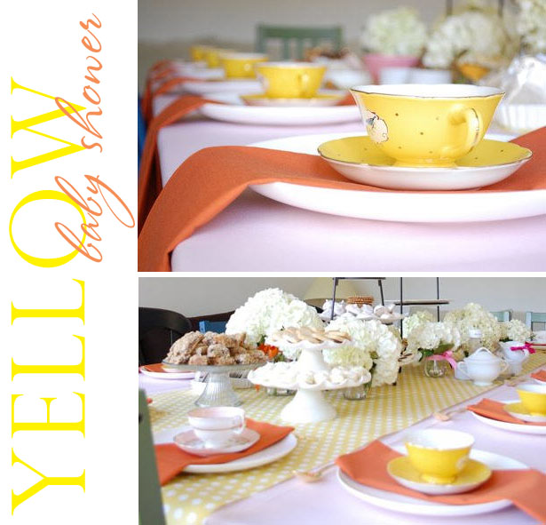 Yellow tea party baby shower