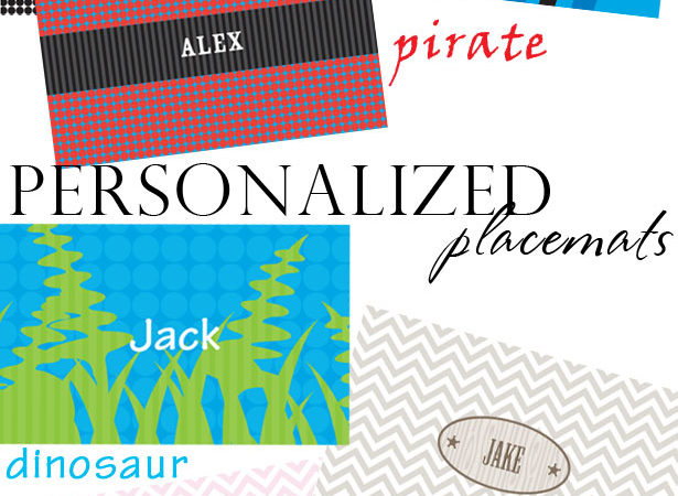 The celebration shoppe personalized placemats