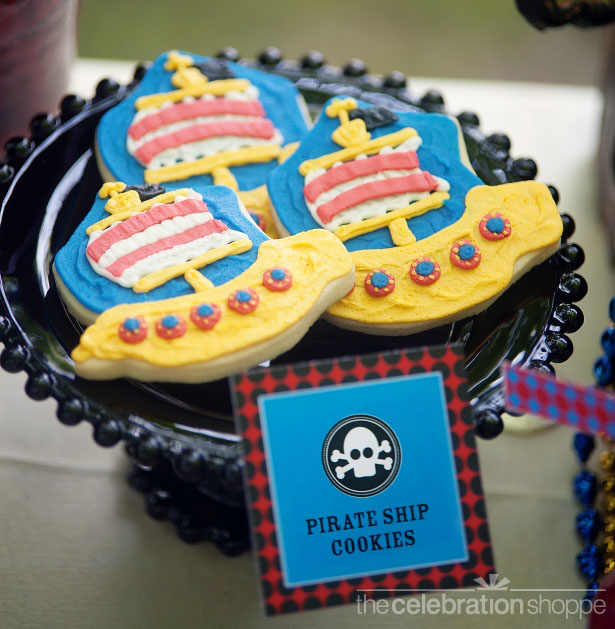 The celebration shoppe pirate party ship cookies wl