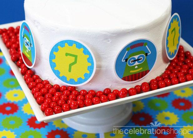 The celebration shoppe robot cake 2595 wl