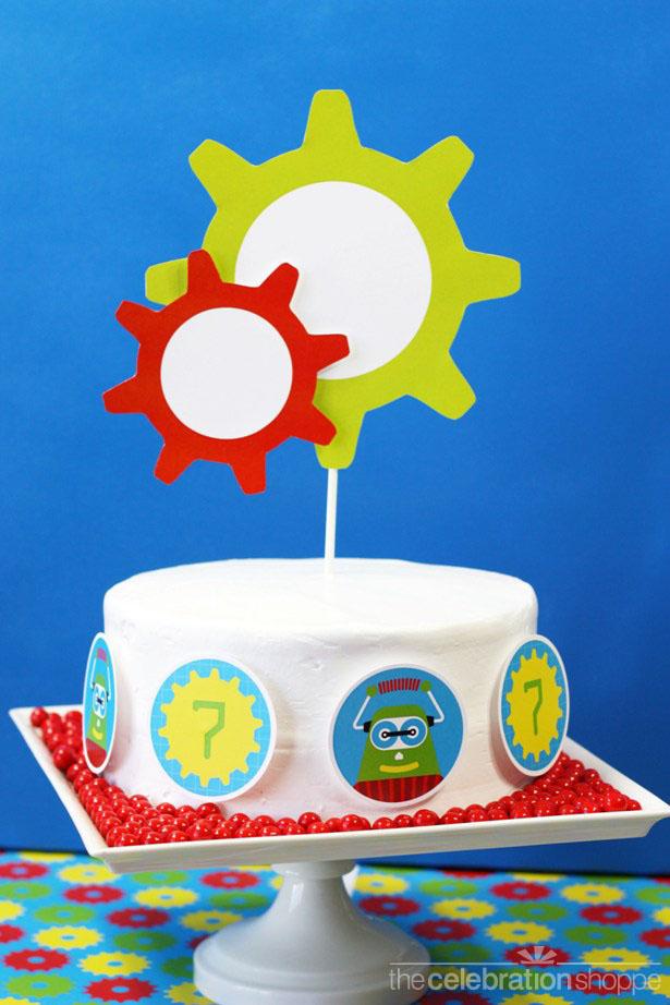 The celebration shoppe robot cake 2604 wl
