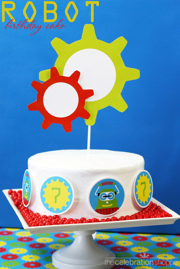The celebration shoppe robot cake 2604 wt