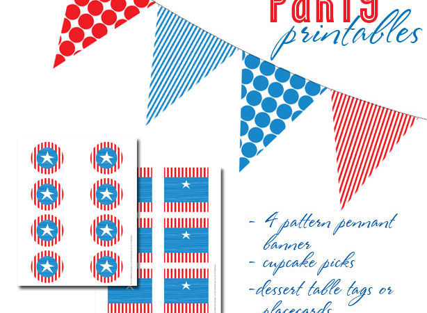 Free patriotic party printables from the celebration shoppe