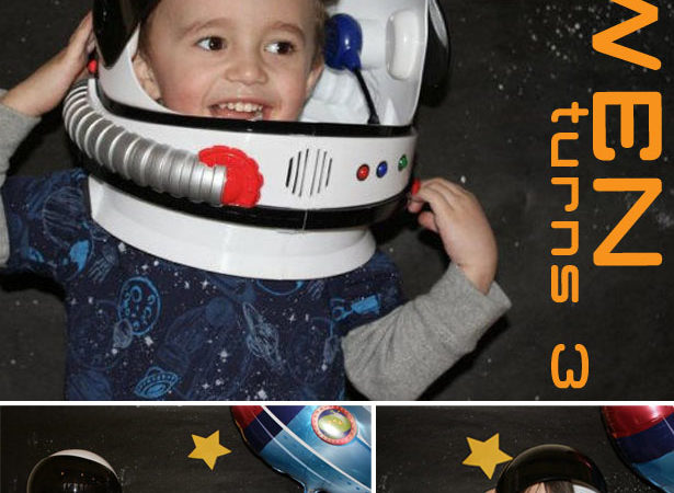Space birthday party photo booth