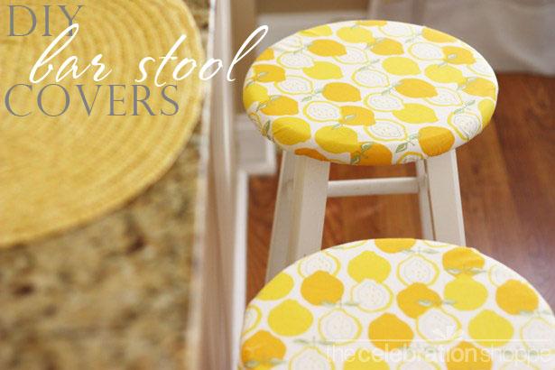 The celebration shoppe diy bar stool covers