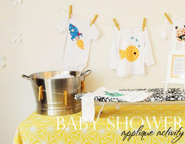 Fete fete baby shower applique activity