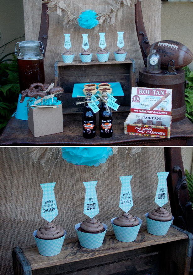 Lauras little party chocolate fathers day dessert table 4