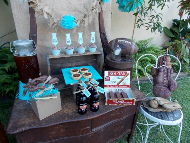 Lauras little party chocolate fathers day dessert table