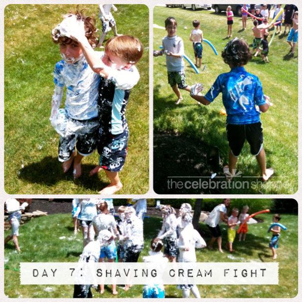 Day 7 shaving cream fight wl