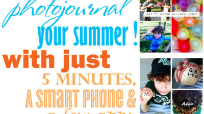 How to photojournal your summer in 5 minutes a day wl
