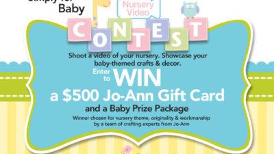 Jo ann nursery contest