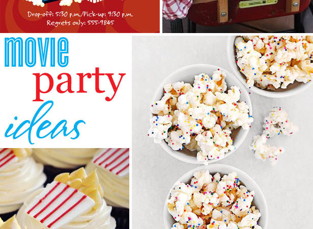 Movie party craft and sweets ideas