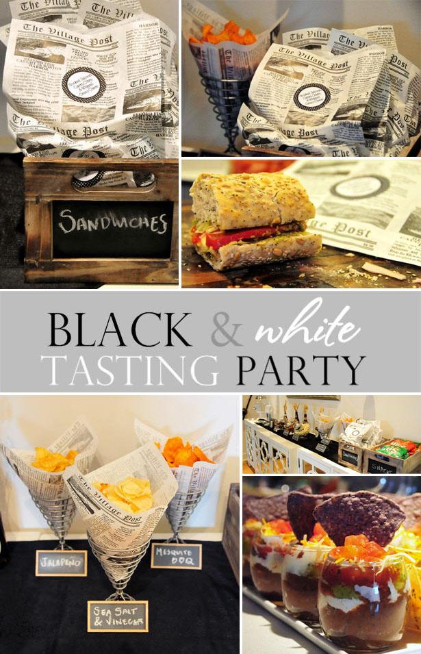 Fete a fete black white tasting party