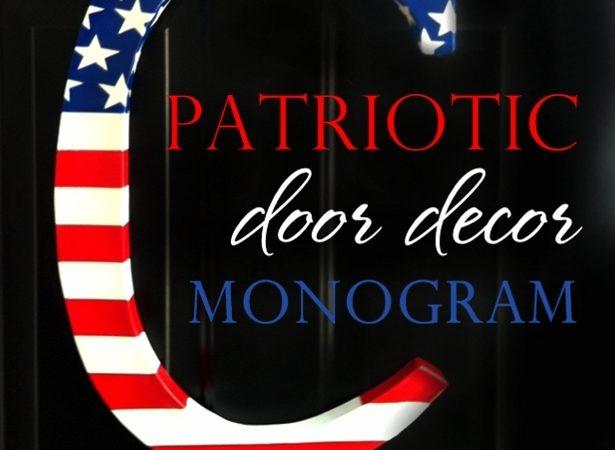 Patriotic door monogram sm 0001
