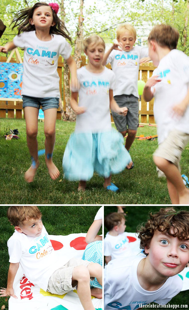 The celebration shoppe camp birthday party games